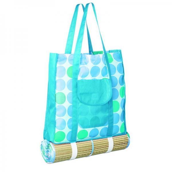 Пляжное покрывало-сумка своими руками